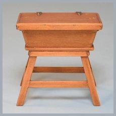 Vintage Miniature Chestnut Hill Studios Pine Early American Dough Box 1960s