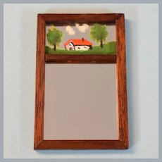 "Vintage Miniature Chestnut Hill Studios Early American Mirror 1960s 1"" Scale"
