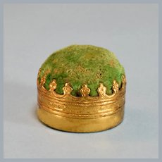 "Ormolu Pin Cushion #3051 by Erhard & Söhne Early 1900s 1"" Scale"