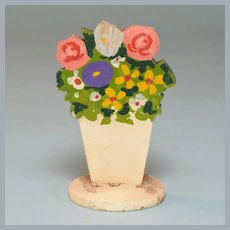 Miniature Hand-Painted Flowers Fire Screen Early 1920s – 1930s