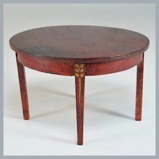 """Miniature Sheraton Dining Room Table 1920s –  1930s Large 1"""" Scale"""