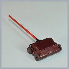 "Dollhouse Miniature Metal Carpet Sweeper 1950s 1"" Scale"