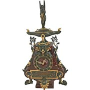 French Gilt Bronze & Marble Clock