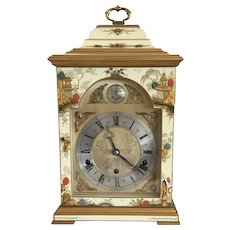 Elliott Cream Chinoiserie Three Train Bracket Clock