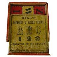 Complete Set of 19th Century 'Hill's Alphabet & Figure Blocks'