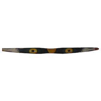 Paint Decorated Native Indian Wood Child's Bow