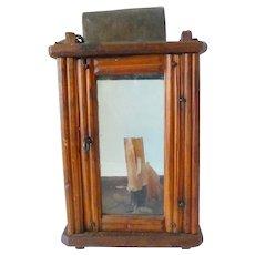 Decorated Folk Art Wood Candle Lantern 19th Century