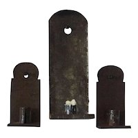 Three tole candle sconces 19th Century American