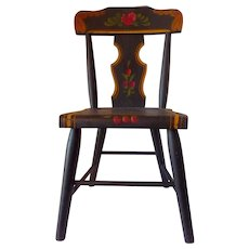Late 19th Century Child's Paint Decorated Chair