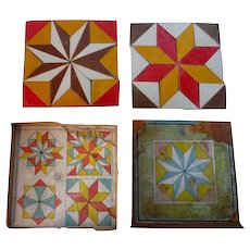 Set of Star Quilt Pattern Blocks Original Box