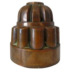 19th Century Copper Pudding Aspic Jelly Tiered Mold.