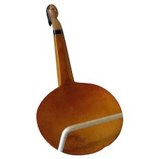 19th Century Small Woodlands Indian Carved Maple Effigy Spoon Ladle
