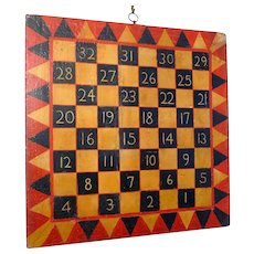 19th Century Original Paint Game Board Two sides