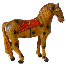 Painted Carved Folk Art Horse 19th C