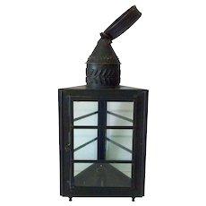 19th Century Copper Candle Lantern