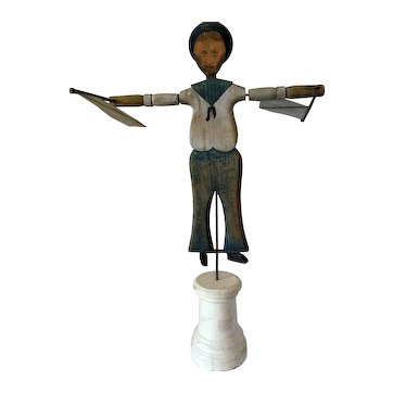 Early 20th Century Sailor Whirligig