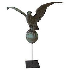 Small Molded Copper Eagle Weathervane, America, late 19th century