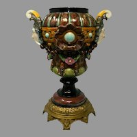 An Antique Majolica Flower Vase