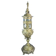 1850-1899 Large Bronze and Glass Urn Germany