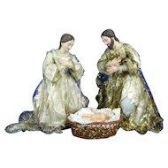 1850-1899 Nativity Set or Mystery Virgin Mary Saint Joseph Baby Jesus Mexico
