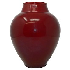 Large Antique PM Paul Milet Sevres Ox Blood Style Porcelain Vase France
