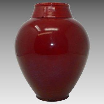 Large Antique PM Paul Milet Sevres Ox Blood Style Porcelain Vase France