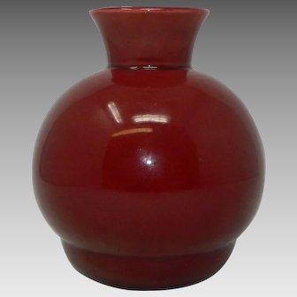 Antique PM Paul Milet Sevres Ox Blood Style Porcelain Vase France