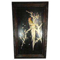 1850-1899 Large Wood Panel Roster Mother of Pearl and Mixed Materials China