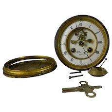 Antique Clock Movement Bronze Medal L Martí French
