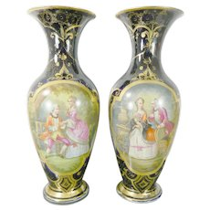 Antique Pair of Sevres Style Porcelain Vases France