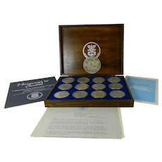 12 Pure 999 Silver Coins & The Circle of Unity Medallion 25 Anniversary Tribute to Israel by Salvador Dali United States