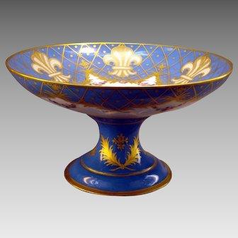 Antique Sevres Porcelain Centerpiece Bowl Bourbon Portrait France