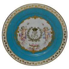 An Antique Cabinet Sevres Porcelain Plate Chateau des Tuileries #4