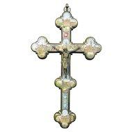 Antique Grand Tour Micro Mosaic Crucifix – Italy 19th Century