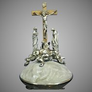 Antique Sterling Silver Calvary – France 19th Century
