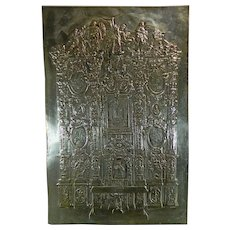 1900-1940 Chiselled Silver Virgin of Guadalupe Altar Image Mexico