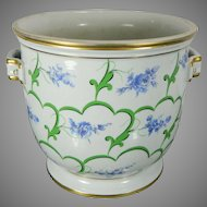 Vintage Hand Painted Sevres Porcelain Flower Pot France 20th Century