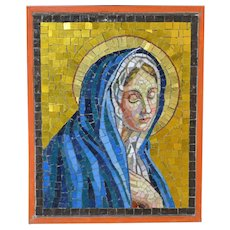 1940-1990 Venetian Mosaic of the Virgin Mary Italy