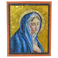 1940-1990 Venetian Mosaic of the Virgin Mary Italy