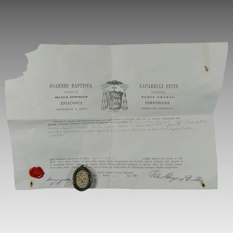 Reliquary TRUE CROSS Virgin Apostols Saints with Certificate COA Italy