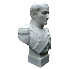Antique Parian Biscuit Bust of Napoleon by R&L