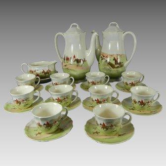Royal Doulton Porcelain Tea Set for 10 People Equestrian Themes England