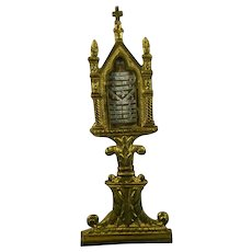 Large Reliquary TRUE CROSS Virgin Apostol's Saints with Certificate COA Italy