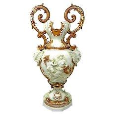 Antique Porcelain Flower Vase King Dresden