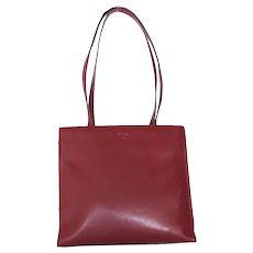 Authentic PRADA Burgundy Leather Shoulder Bag Purse