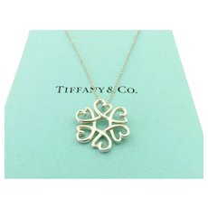 4176c8e33 Authentic TIFFANY & CO Sterling Silver Loving Hearts Pendant Necklace