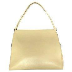 Authentic PRADA Beige Leather Shoulder Bag Purse