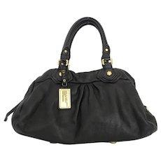 Authentic Marc by Marc Jacobs Black Leather Large Shoulder Bag Purse