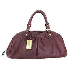 Authentic Marc by Marc Jacobs Bordeaux Leather Large Shoulder Bag Purse