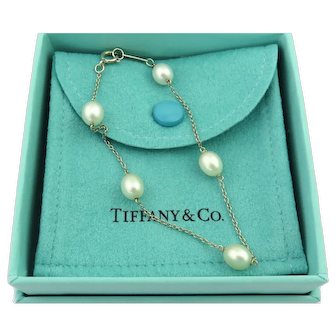 Authentic TIFFANY & CO Sterling Silver Pearls by the Yard Bracelet